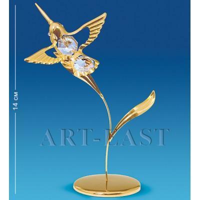 """Фигурка """"Колибри на лепестке"""" 6,5x6,5x14 см., Crystal Temptations, США"""