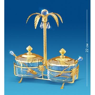 Сахарница двойная 20x10x22 см., Crystal Temptations, США