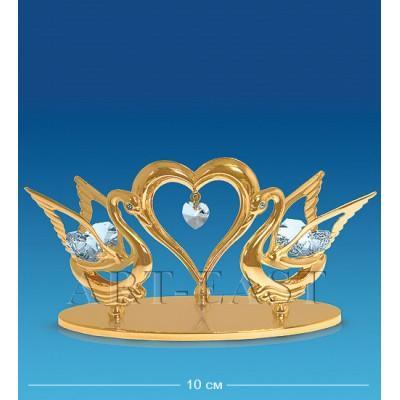 "Фигурка ""Два лебедя с сердцем"" 12,5x5x6 см., Crystal Temptations, США"