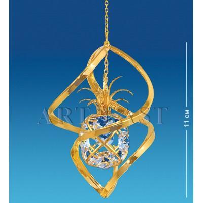 "Фигурка подвесная ""Ананас"" 5,5x5,5x28 см., Crystal Temptations, США"