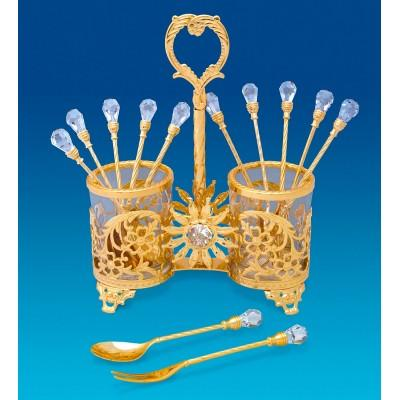 Набор десертных вилочек и ложечек Crystal Temptations, США