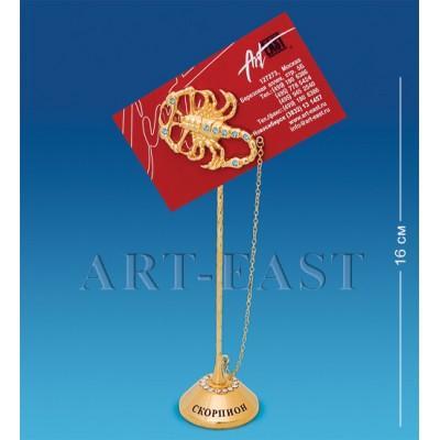 "Держатель для визиток ""Скорпион"" 4x4x16 см., Crystal Temptations, США"