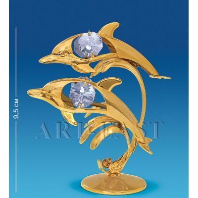 """Фигурка """"Дельфины"""" 8,5x5,5x9,5 см., Crystal Temptations, США"""