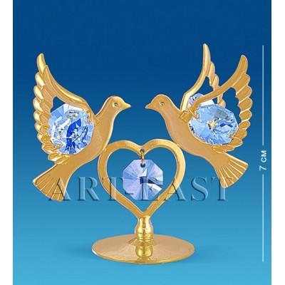 "Фигурка ""Сердечко с голубями"" 7x4x6,5 см., Crystal Temptations, США"