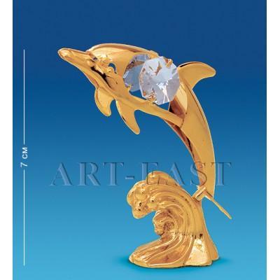 """Фигурка """"Дельфин на волне"""" 5x3x8 см., Crystal Temptations, США"""