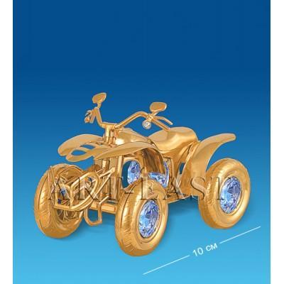 "Фигурка ""Мотоцикл 4-х колесный"" 10x5x7 см., Crystal Temptations, США"