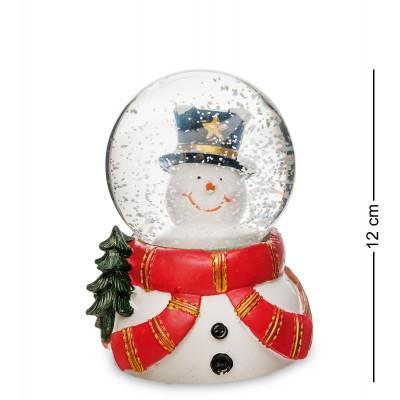 """Шар со снегом муз. с подсветкой """"Снеговичок"""", 12 см., PM-52"""