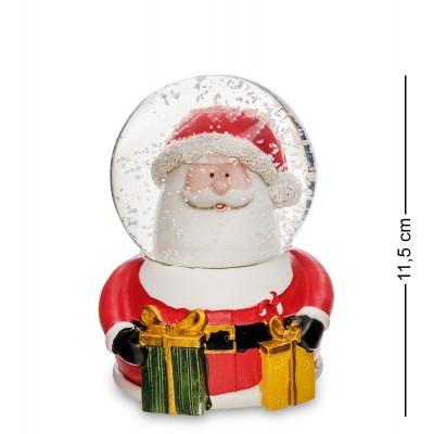 "Шар со снегом муз. с подсветкой ""Санта с Подарками"", 11.5 см., PM-54"
