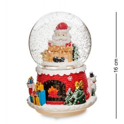 "Шар со снегом ""Привет от Санты"" 16 см., PM-58"
