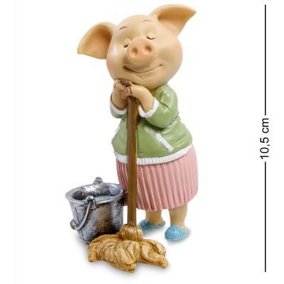 """Фигурка Свинья """"Хорошая хозяйка"""" 6x6x10,5 см., полистоун"""