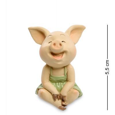 """Фигурка Свинья """"Отличное настроение"""" 3,5x3,5x5,5 см., полистоун"""