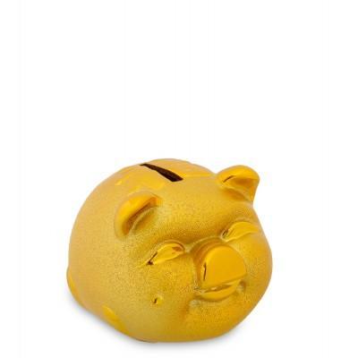 Копилка Золотая свинка - на удачу, 9.5х8х7 см.