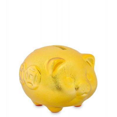 Копилка Золотая свинка - к достатку, 10х9х7.5 см.