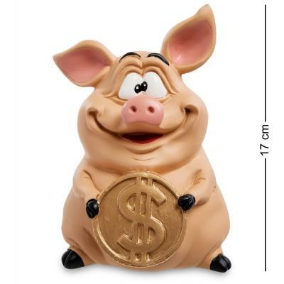 """Статуэтка-копилка Свинка """"Привлекаю инвестиции"""" 12x13x17 см., полистоун Warren Stratford Канада"""