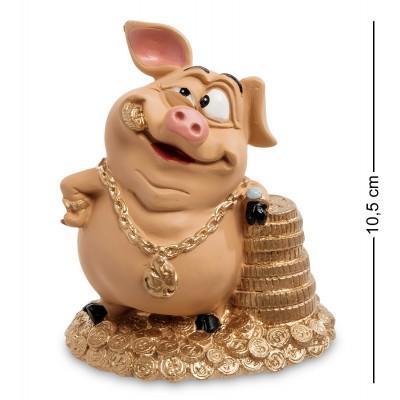 """Статуэтка Свинка """"Талисман на удачу"""" 9x6,5x10,5 см., полистоун Warren Stratford Канада"""