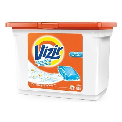 Капсулы для деликатной стирки Vizir Sensitive 15 шт