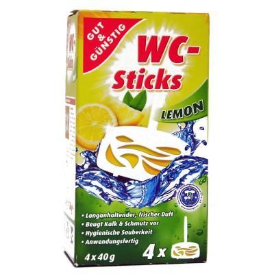 Стики для унитаза Gut&Gunstig WC-Sticks Lemon, 4х40г