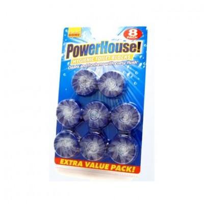 Таблетки для унитаза PowerHouse, океан 8 шт
