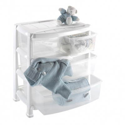 Комод пластиковый Heidrun Professional 2+2 ящика Белый (1527)
