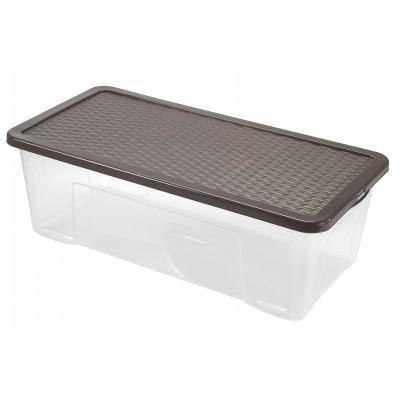Контейнер для хранения пластиковый 40 л, 80x40х18 см., Heidrun 4687