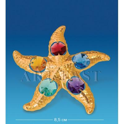 "Фигурка ""Морская звезда"" 8,5x9x1 см., с цвет. крист. Crystal Temptations, США"