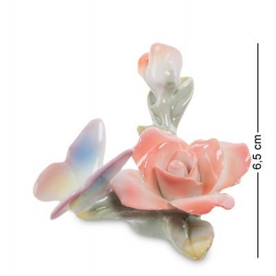 """Фигурка """"Бабочка на розе"""" 8x5,5x6,5 см., Pavone, Италия"""