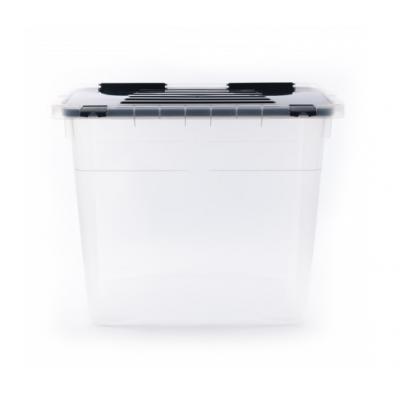 Ящик-контейнер пластиковый с крышкой 72 л., 58x36,5х47,5 см., Италия