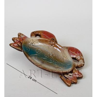 Тарелка-подставка декор. Краб 24 см., керамика