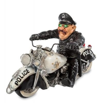 "Фигурка ""Полицейский Байкер"", 23х11х13 см., полистоун Warren Stratford, Канада"