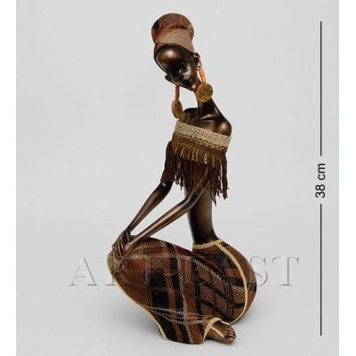 """Статуэтка """"Африканская леди"""" 15x19x38 см., полистоун"""