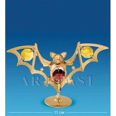 """Фигурка """"Летучая мышь"""" 11x3x7,5 см., с цвет. крист. Crystal Temptations, США"""