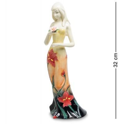 """Статуэтка """"Девушка"""" 11x11,5x32 см., фарфор Pavone, Италия"""