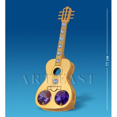 "Фигурка ""Гитара"" 11 см., с цвет. крист. Crystal Temptations, США"