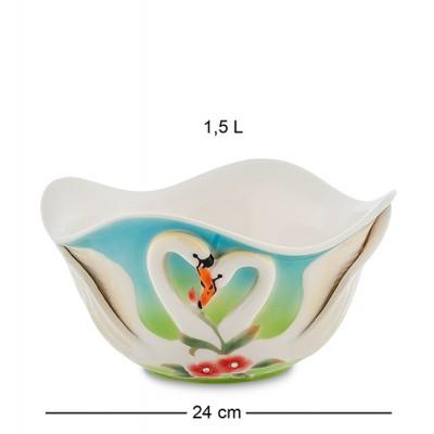 """Салатник """"Лебеди"""" 12 см., фарфор Pavone, Италия"""