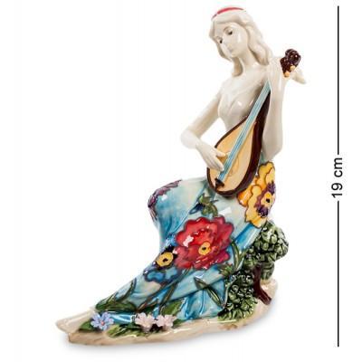 "Статуэтка девушка ""Волшебная домра"" 15x8x19 см., фарфор Pavone, Италия"