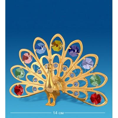 "Фигурка ""Павлин"" 14x3,5x9 см., с цвет. крист. Crystal Temptations, США"