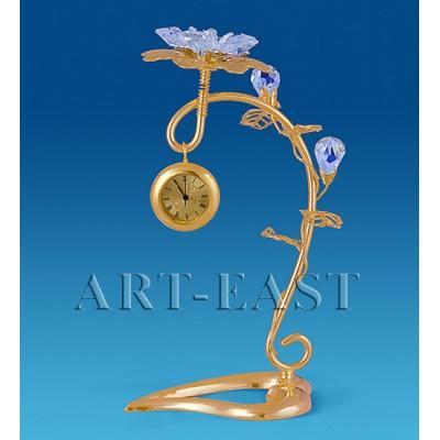 "Фигурка с часами ""Цветок"", 7x6x14 см., Crystal Temptations, США"