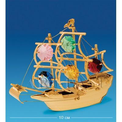 "Фигурка ""Корабль"" 10x4x8 см., с цвет. крист. Crystal Temptations, США"