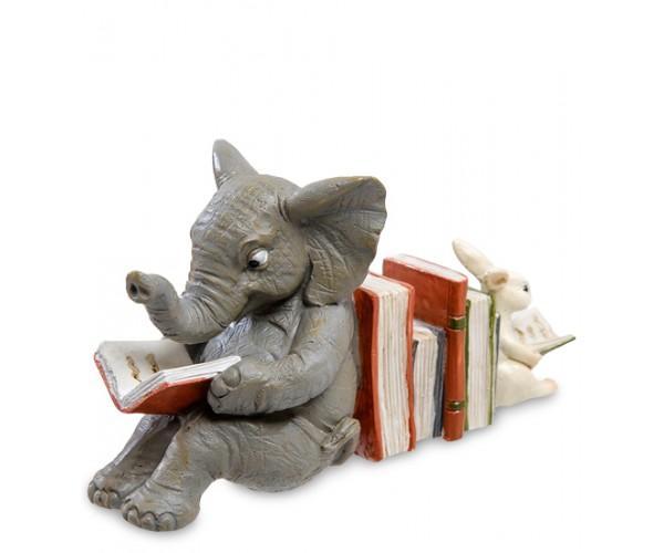 Фигурка ''Слоненок и зайчонок'', 10 см., полистоун