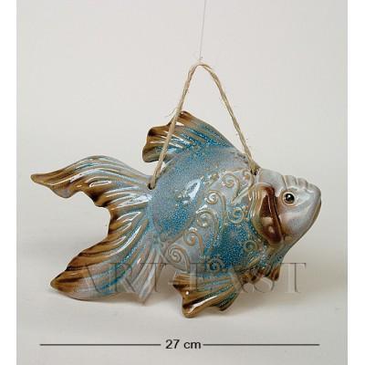 Подвесная фигура Рыба 27 см., керамика