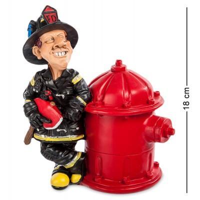 """Статуэтка-копилка """"Пожарный"""" 15x9x18 см., полистоун Warren Stratford Канада"""
