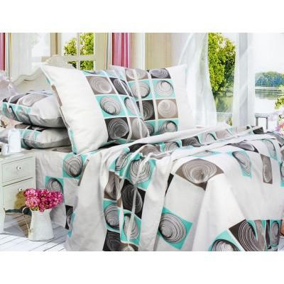 Комплект постельного белья Полуторный, Бязь-100% хлопок (1.5-сп.ЕТ0668)