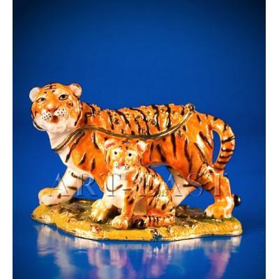 "Статуэтка-шкатулка ""Семейка тигров"", Nobility, Гонконг"