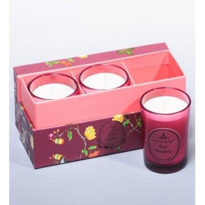 """Набор из 3 свечей аром. """"Базилик и мандарин"""" Serenity Candles, Австралия"""