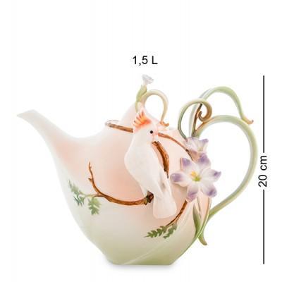 """Заварочный чайник """"Попугай Какаду"""" 1.5 л., фарфор Pavone, Италия"""