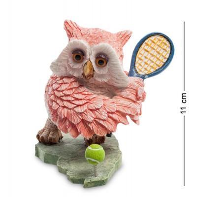 "Фигурка ""Сова-теннисистка"" 10x11x11 см., полистоун Sealmark, США"