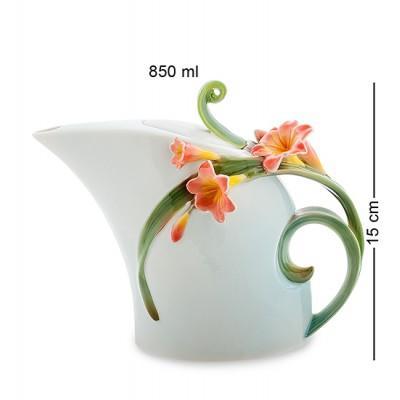 """Чайник заварочный """"Кливия"""" 850 мл., фарфор Pavone, Италия"""