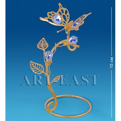 "Фигурка-композиция ""Бабочка на ветке"" 8x7x15 см., Crystal Temptations, США"