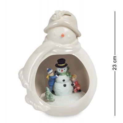 """Статуэтка-светильник """"Новогоднее удовольствие"""" 17x14,5x23 см., Pavone, Италия"""
