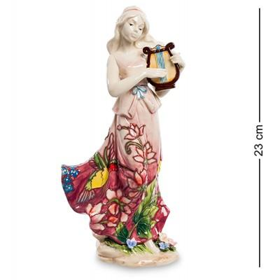 "Статуэтка девушка ""Волшебная лира"" 12x8,5x23 см., фарфор Pavone, Италия"